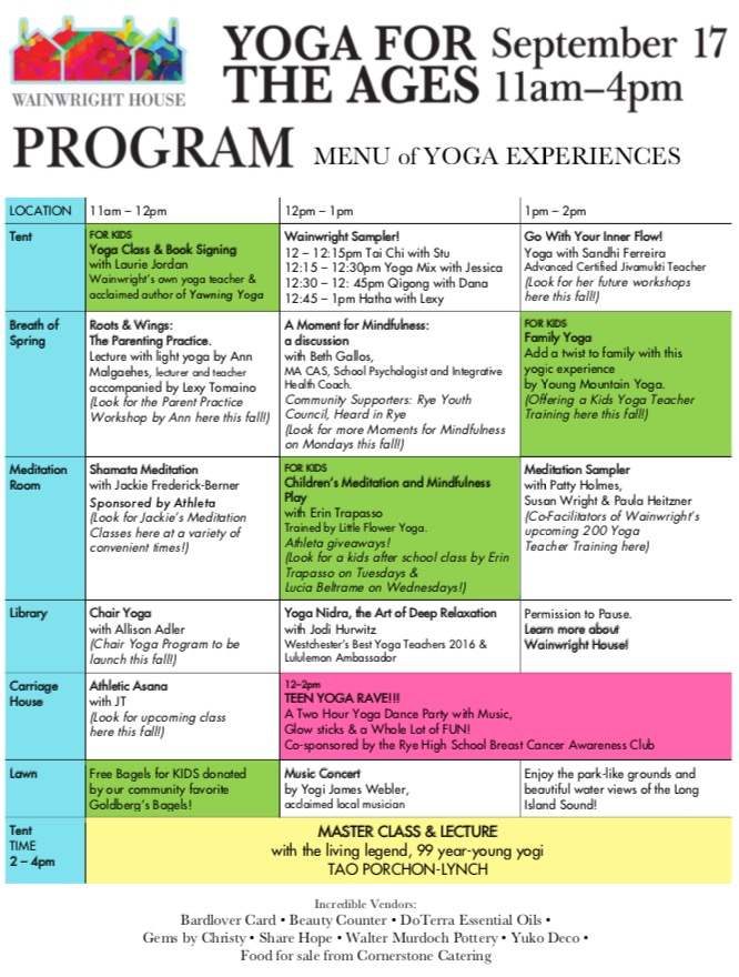 Yoga Festival for the Whole Family 9/17 - Emma Westchester